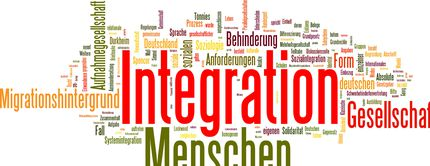 Integration Wortwolke